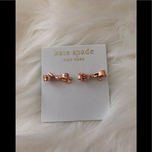 Kate spade bow tie earrings - rose gold
